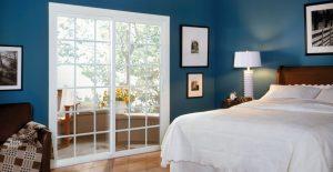 custom sliding door in bedroom