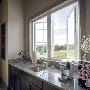 attractive kitchen sink window